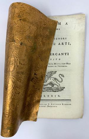 <strong>Proclama degl'Illustrissimi ed Eccellentissimi signori Inquisitor all'Arti, e Consoli de' Mercantiin proposito della Pannina di Seta</strong>