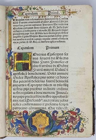 <strong>Consitutiones Alexandrine Or.(dinis) Mi.(norum) edite. anno Domini M.cccci.</strong>