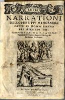 Le Pie narrazioni dell' opere più memorabili fatte in Roma l'anno del Giubileo 1575.
