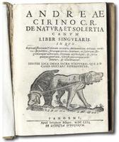 <strong>De Natura et Solertia Canum liber singularis.</strong> In quo sapientissimorum veterum oracula insuper loca omnia sacrae scripturae, quae ad canes spectant expenduntur.