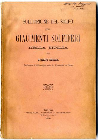 <strong>Sull'origine del Solfo nei giacimenti solferiferi della Sicilia</strong>
