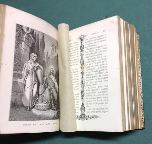 <strong>L'Imitation de Jésus-Christ avec des réflexions à la fin de chaque chapitre par l'abbé F. de Lamennais. 16 gravures d'apres le compositions de G. Doré.</strong>