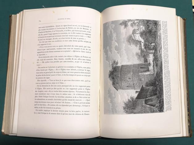 <strong>Jeanne d'Arc.</strong>Edition illustré d'après des monuments de l'art depuis le quinzième siècle jusqu'à nos jours.
