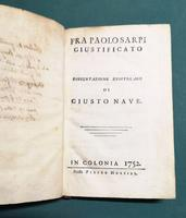 <strong>Fra Paolo Sarpi giustificato. Dissertazione epistolare di Giusto Nave.</strong>