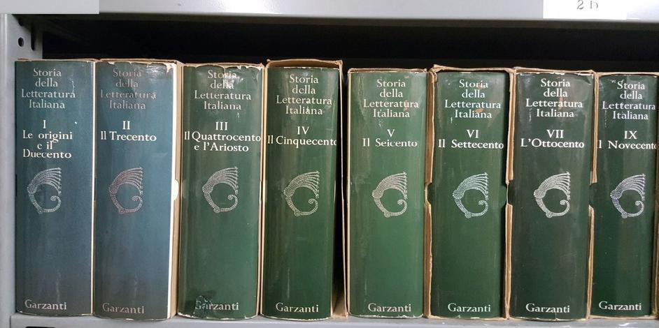 Storia della Letteratura Italiana.