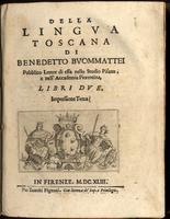 Della Lingua Toscana, libri due. Impressione terza.