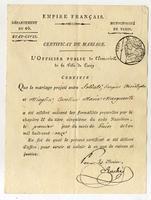 Certificat de Mariage