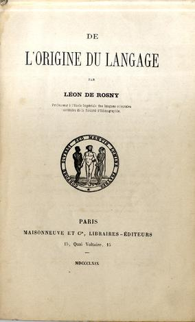 De l'origine du language