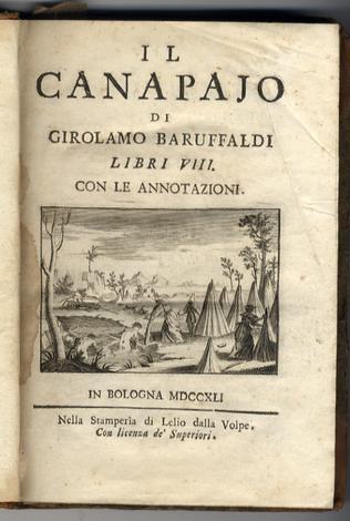 <strong>Il canapajo libri VIII con le annotazioni.</strong>