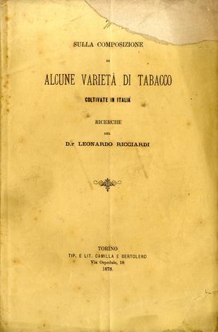 Sulla composizione di alcune varietà di tabacco coltivate in Italia