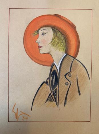 <strong>Ritratti femminili anni '30 firmati dall'Autore</strong>