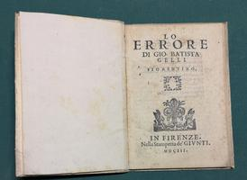 <strong>Lo Errore. (Commedia).</strong>