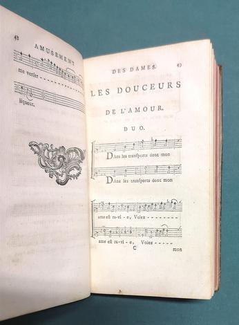 <strong>Amusement des Dames, ou nouveau recueil des chansons choisies.</strong>