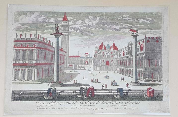 [Copia di ]<strong>The place and church of St. John an St. Paul with the school of St Mark on the left hand, & the equestrian statue of general Bartolomeo Coleone in the front</strong>