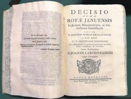 <strong>Decisioni della Rota di Genova</strong>