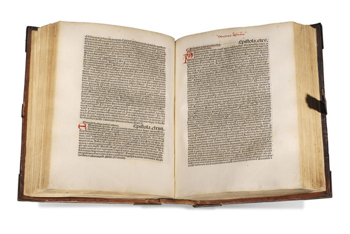 <strong>Epistolae familiares. De Duobus amantibus Euryalo et Lucretia. Descriptio urbis Viennensis</strong>. (Edidit Nicolaus de Wyle).