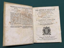 <strong>De Spectaculis theatralibus christiano cuique tum laico, tum clerico vetitis Dissertationes duae.</strong>