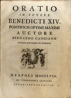 <strong>Oratio in funere Benedicti XIV</strong>