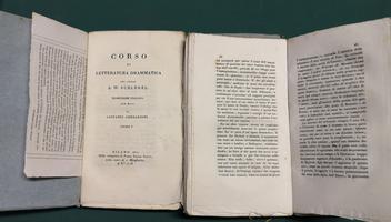<strong>Corso di letteratura drammatica.</strong> Traduzione italiana con note di Giovanni Gherardini.