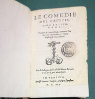 <strong>Le Comedie del facetissimo Aristofane,</strong>tradutte di Greco in lingua commune d' Italia, per Bartolomio e Pietro Rositini de Prat'Alboino.