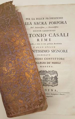 <strong>Per la felice promozione alla sacra porpora.</strong>