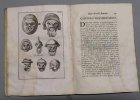<strong>Le Maschere Sceniche e le Figure Comiche d'antichi Romani, descritte brevemente.</strong>