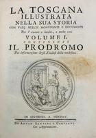 La Toscana illustrata nella sua storia convariscelti monumenti e documenti per l'avanti o inediti, o molto rari.
