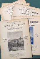 <strong>The Western Front. Drawings by Muirhead Bone. Parts: IV, V, I vol. 2, VII, VIII, IX</strong>