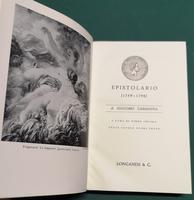 <strong>Epistolario 1759- 1798 di Giacomo Casanova.</strong>N. 23 della collana ''I CENTO LIBRI DI LONGANESI''