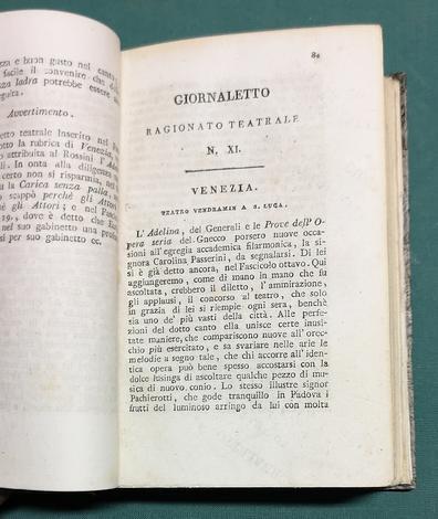 <strong>Raccolta di 84 fascicoli della rivista Giornaletto Ragionato Teatrale.</strong>