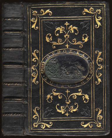 <strong>Legatura d'ottima imitazione in marocchino, eseguita da Demetrio Canevari per il bibliofilo G.B. Grimaldi nel Cinquecento</strong>