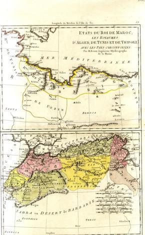 Etates du Roi du Maroc, Les Royames d'Algerie, de Tunisi et de Tripoli.