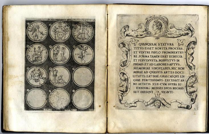 <strong>Omnium Caesarum verissime imagines antiquis numismatis desumptae, addita per brevi cujusque vitae descriptione Ac di</strong>ligenti eorum quae reperiri potuerunt numatismatum, aversae partis delineatione.