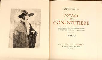 <strong>Voyage du Condottière. Soixante-dix pointes-sèches originales et cinquante-huit bois en trois tons gravés par LOUIS JOU.</strong>