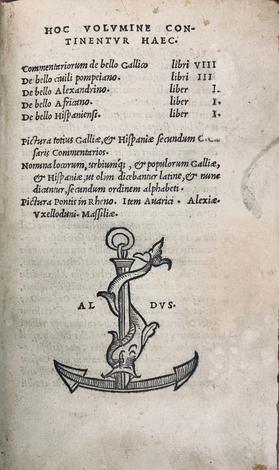 <strong>Commentariorum de bello gallico...</strong> De bello civili pompeiano... De bello alexandrino... De bello africano... De bello hispaniensi [etc.].
