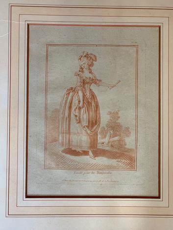 <strong>DEMARTEAU, Gilles (1729-1786). Etude pour les Demoiselles</strong>