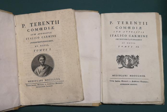 <strong>Comoediae, cum appositis Italico carmine interpretationisbus ac notis.</strong>