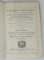 L'Esequie trionfali del Marchese Guido Villa Logotenente Generale