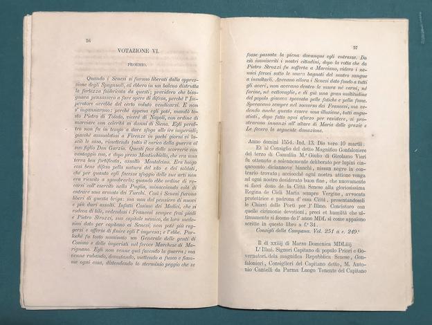 <strong>Atti di votazione della città di Siena e del senese alla SS. Vergine Madre di G. C.,pubblicati per la prima volta pella festa di agosto dell' anno 1870 per cura del parroco Alessandro Toti.</strong>