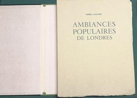<strong>Ambiances populaires de Londres. Treente eaux-fortes originales de l'Auteur. Introduction de Francis Carco.</strong>
