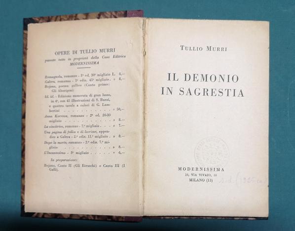 <strong>Il demonio in sagrestia.</strong>