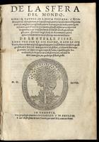 De la Sfera del Mondo, libri quattro in lingua toscana...contengono in se tutto quel ch'intorno à tal materia si possa desiderare...(segue:) De le Stelle Fisse,