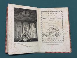 <strong>Ermione,</strong> tragedia di Arenio Triense P.A. ed A.T. da rappresentarsi nella sala degli Imperiti l'anno 1790.