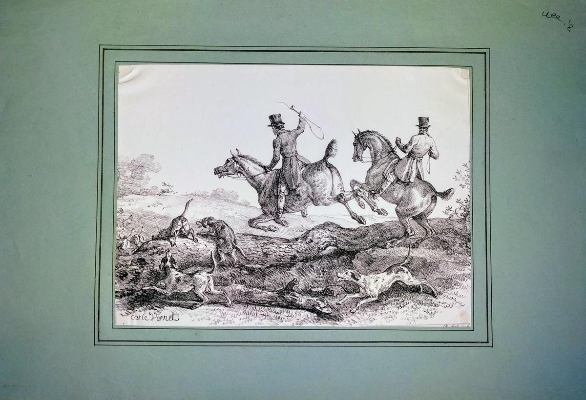 <strong>Caccia a cavallo.</strong>