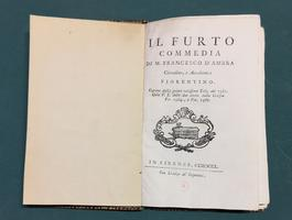 <strong>Il Furto. Commedia.</strong>
