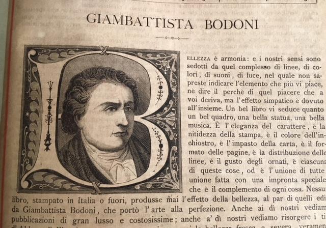 <strong>Giambattista Bodoni.</strong> Bollettino Bibliografico Illustrato dello stabilimento Sonzogno in Milano. <strong>Anno III, numero 9.</strong>