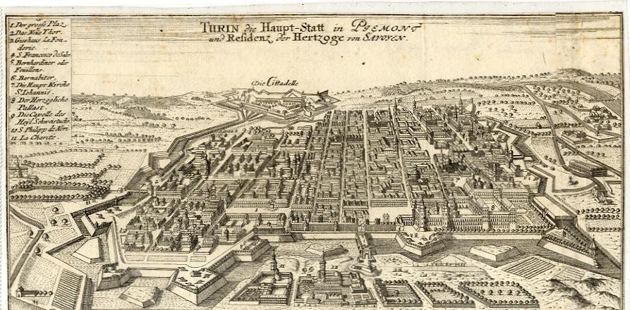 <strong>Turin die Haupt-Statt in Piemont und Residenz der Hertzoge von Savoyen</strong>