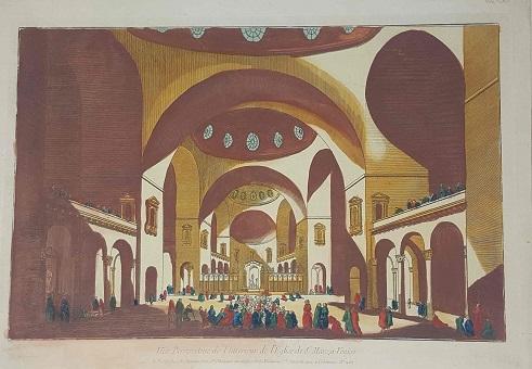 <strong>Vue Perspective de l'interieur de l'Eglise de S. Marc a Venise.</strong>